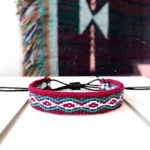 Jewelry - 2 for $10 ➤ Maroon & Teal Boho Woven Bracelet